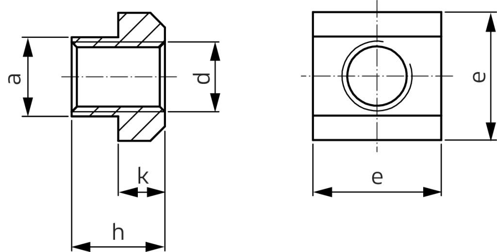 aus verzinktem Kohlenstoffstahl f/ür Aluminiumprofil 50-tlg T-Muttern M4 M5 M6 T-Nuten-Hammerkopfmutter EU30-M6 * 16,5 * 8