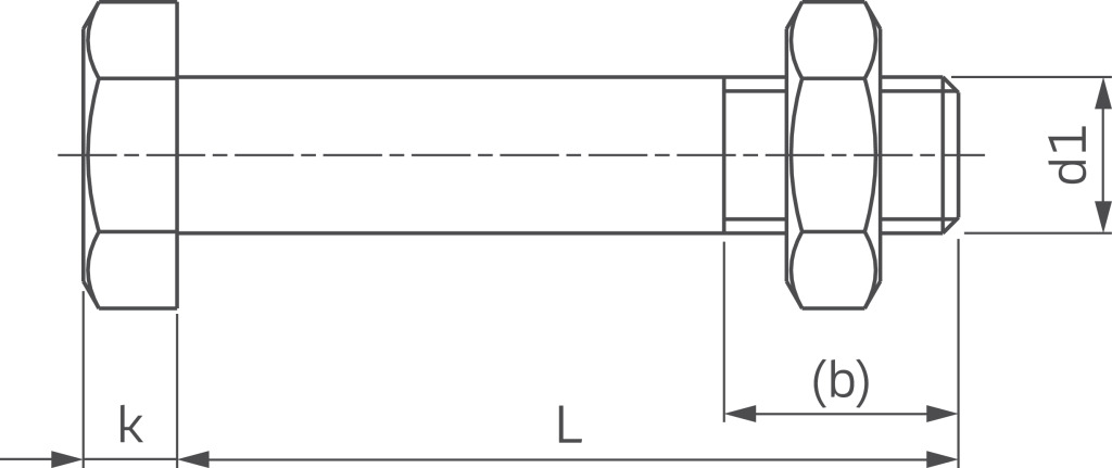 50 Sechskantschrauben ISO 4014 10.9 schwarz M16x55