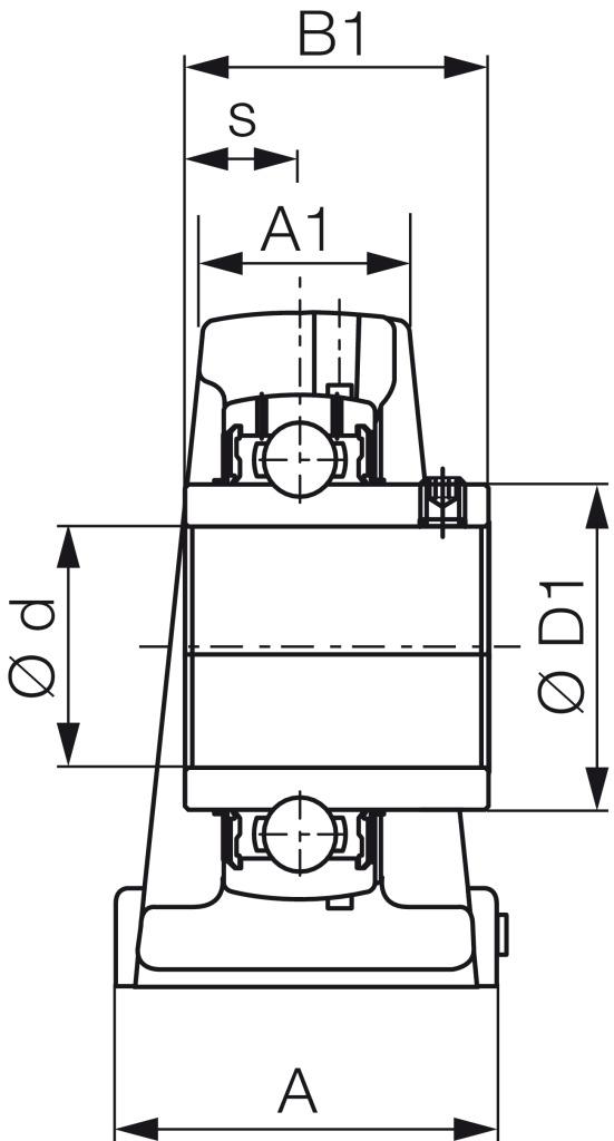 FAG Stehlagereinheit UCP210-J7 BLACK SERIES