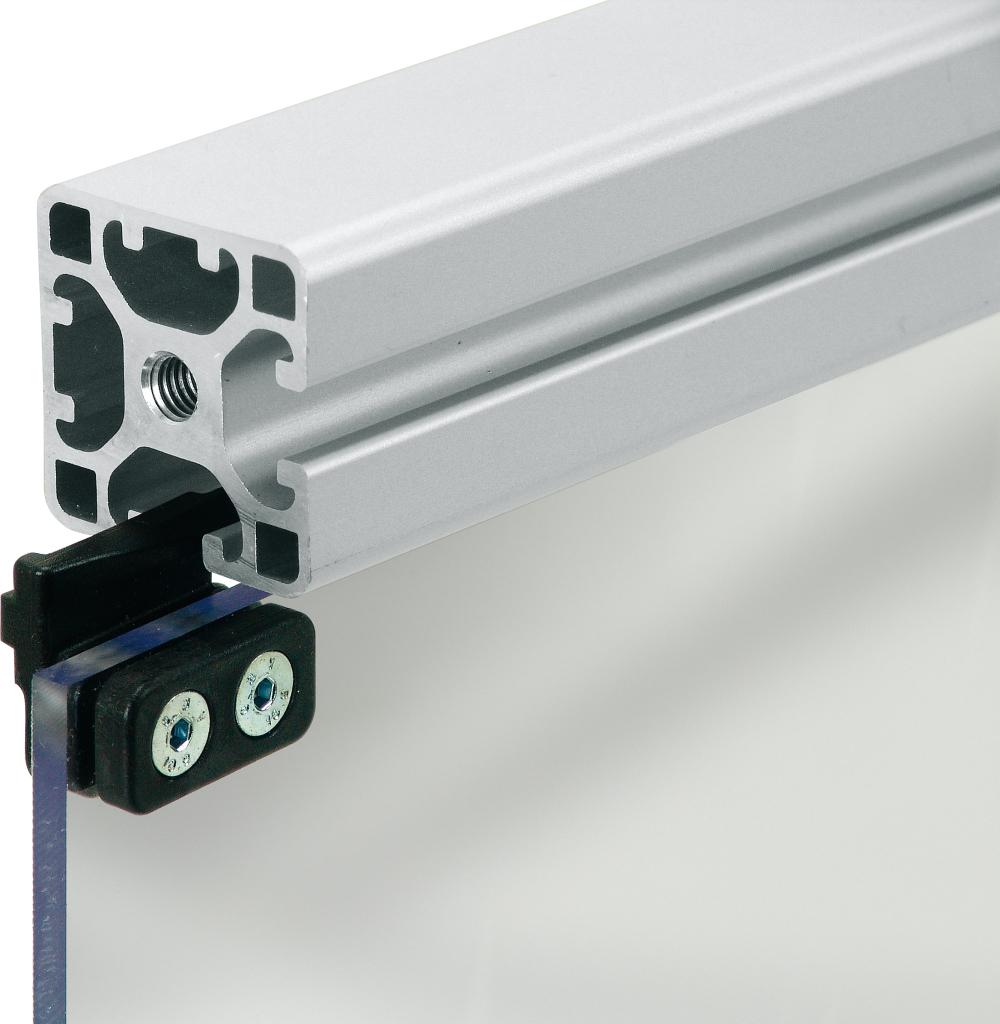 Glasschiebet/ür Edelstahl 1,83M-Einzel-T/ür Schiebet/ürbeschlag Set Schiebet/ür f/ür Glas- oder Holzt/üre Montageset inklusive Laufschiene Schiebet/ürsystem