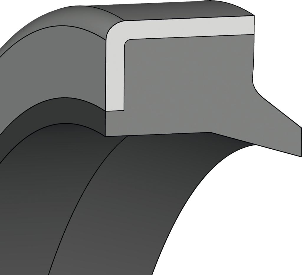 10 Abstreifer 45 x 55 x 7//10 mm aus NBR//Metall Profil AN-3